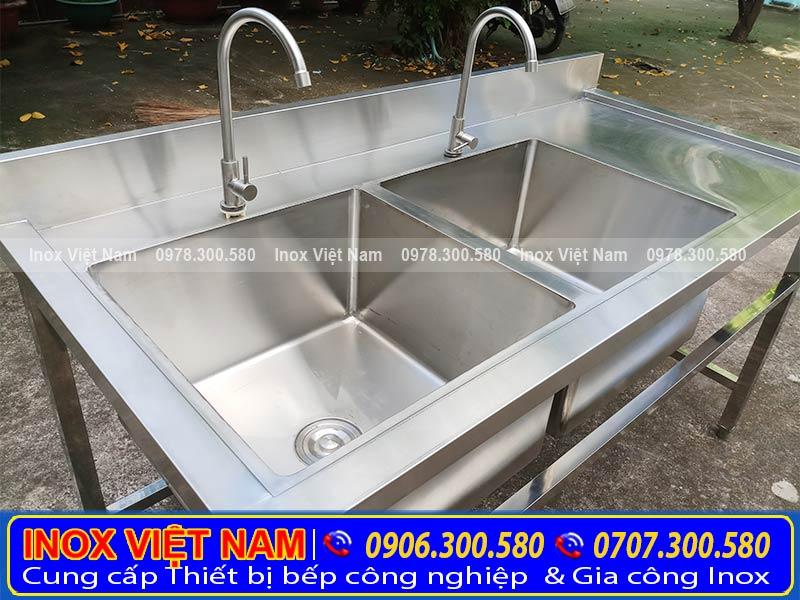 Sản phẩmbồn rửa chén inox có cánh phải với chất liệu inox 304 cao cấp ( Ảnh thật tế).
