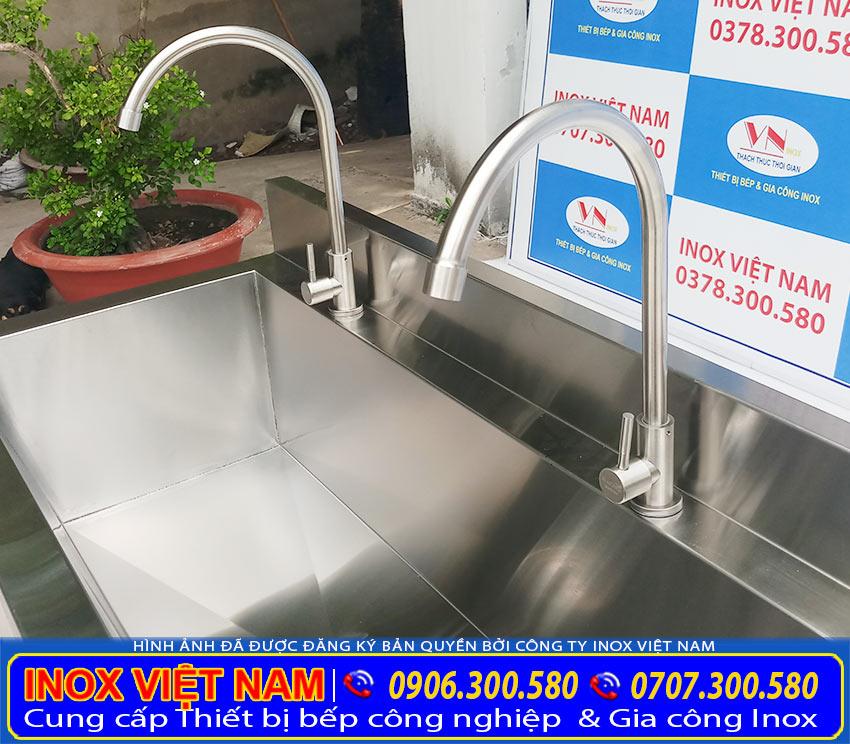 Hệ thống vòi cấp, xả nước hoạt động linh hoạt, nhanh chóng