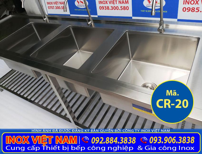 Bồn rửa chén nhà hàng loại lớn CR-20.