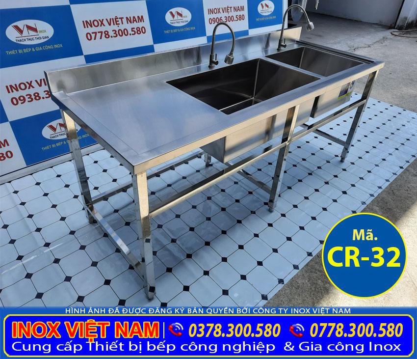 Chậu rửa bát công nghiệp, bồn rửa chén inox cao cấp chuyên dành cho các bếp ăn công nghiệp.