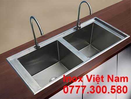 Bồn Rửa Chén Inox 2 Ngăn Âm Bàn CR-30