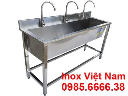 Máng Rửa Tay Inox Công Nghiệp 1m5 Có Khung Chân CR-34